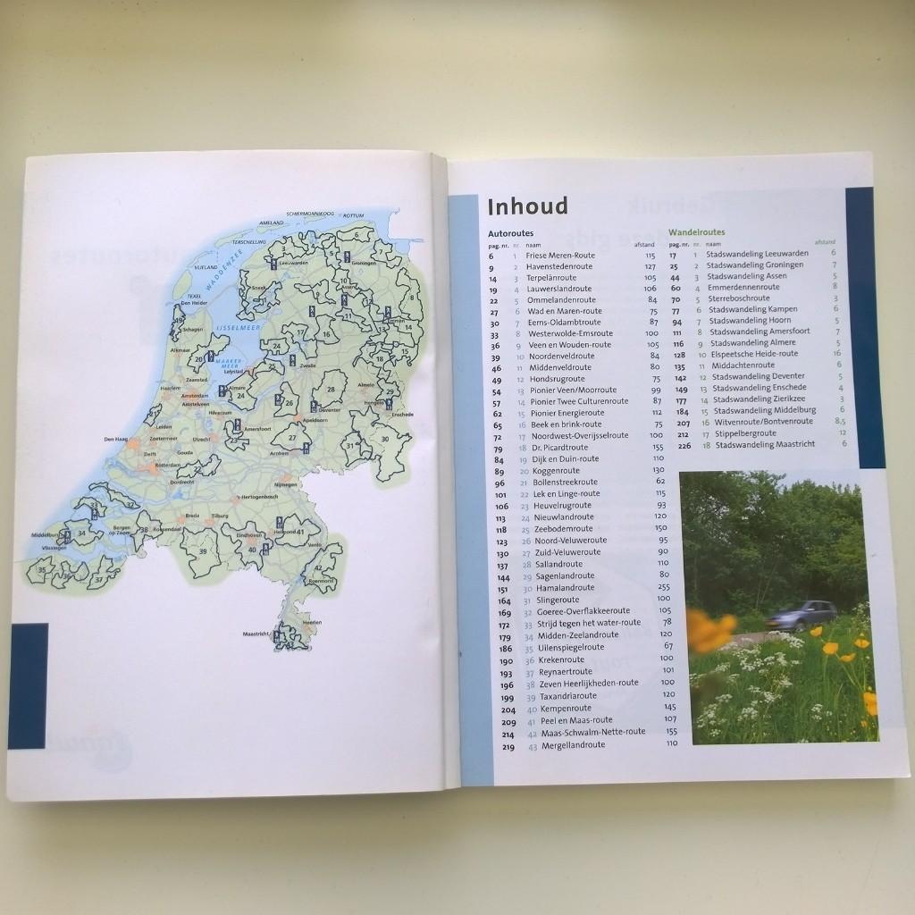 ANWB toeristische autoroutes kaart Nederland