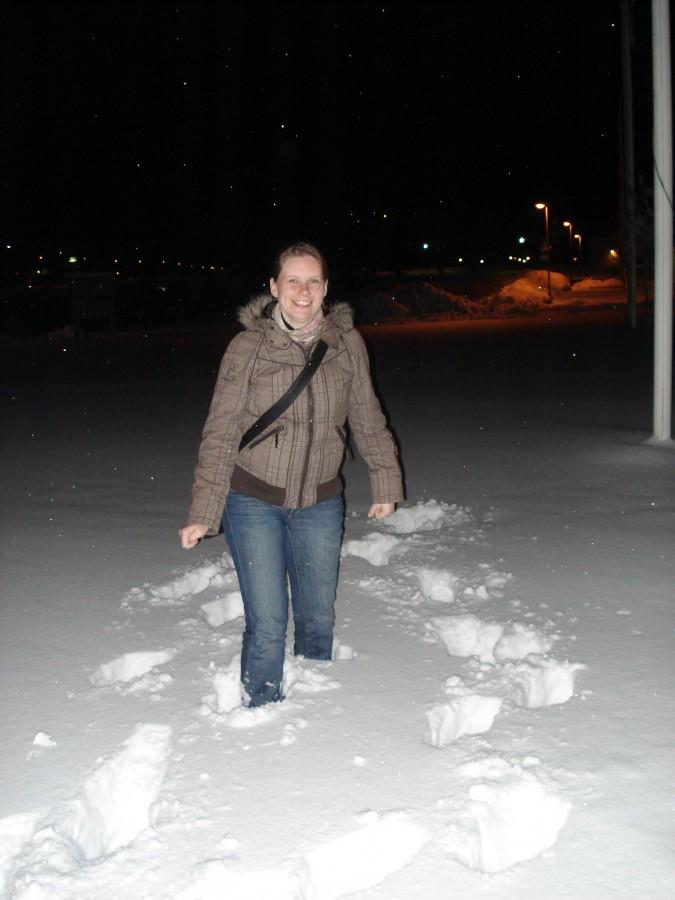 Anita sneeuw Zweden eerste vakantie