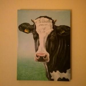 B&B bakhuisje Ees koeienschilderij