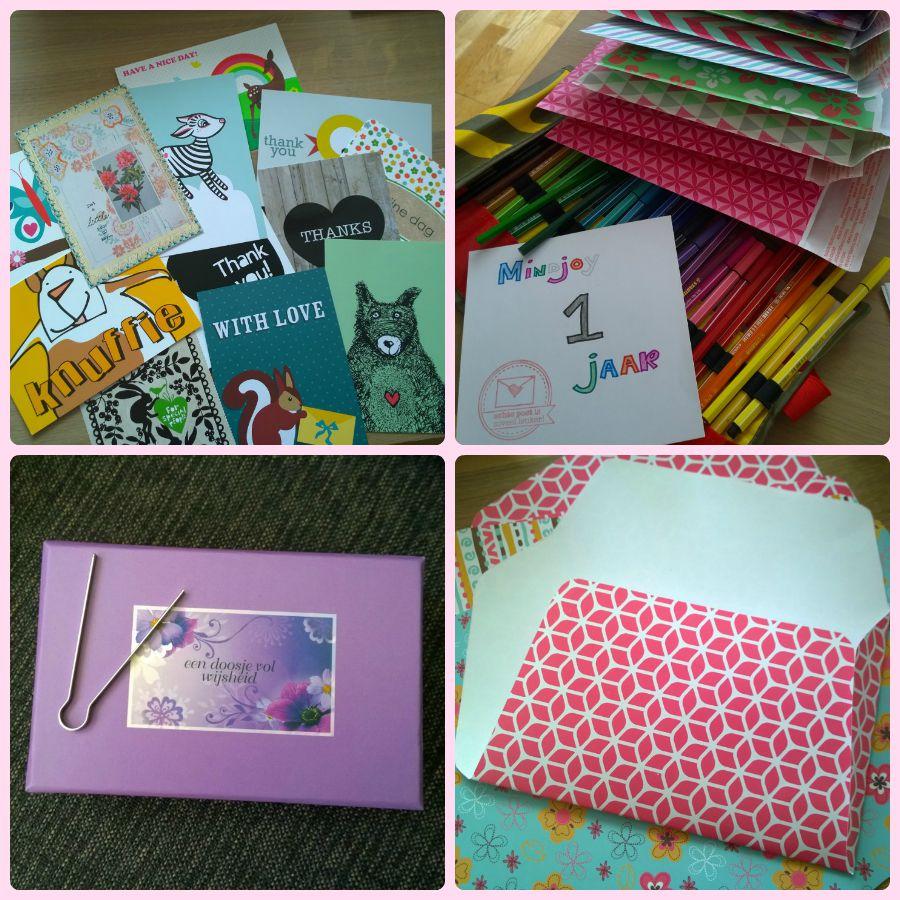 Bedankpakket mindjoy 1 jaar samenstellen bloggers