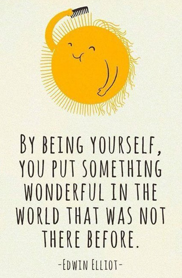 Being yourself quote