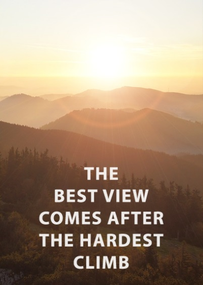 Best view hardest climb quote
