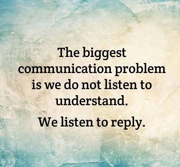 Communicatieprobleem luisteren en begrijpen