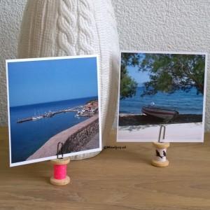 DIY houten klosjes fotos vakantie