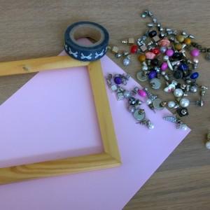 DIY oorbel display benodigheden