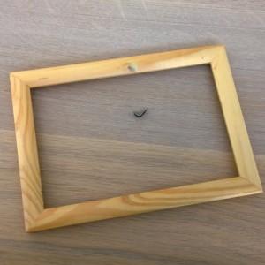 DIY oorbel display fotolijst