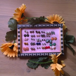 DIY oorbel display resultaat