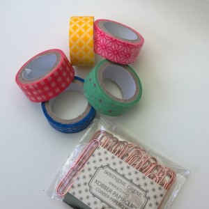 DIY washi tape paperclips versieren