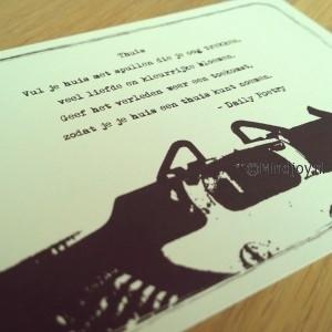Daily Poetry toonbank kaart