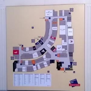 Designer outlet Roermond plattegrond