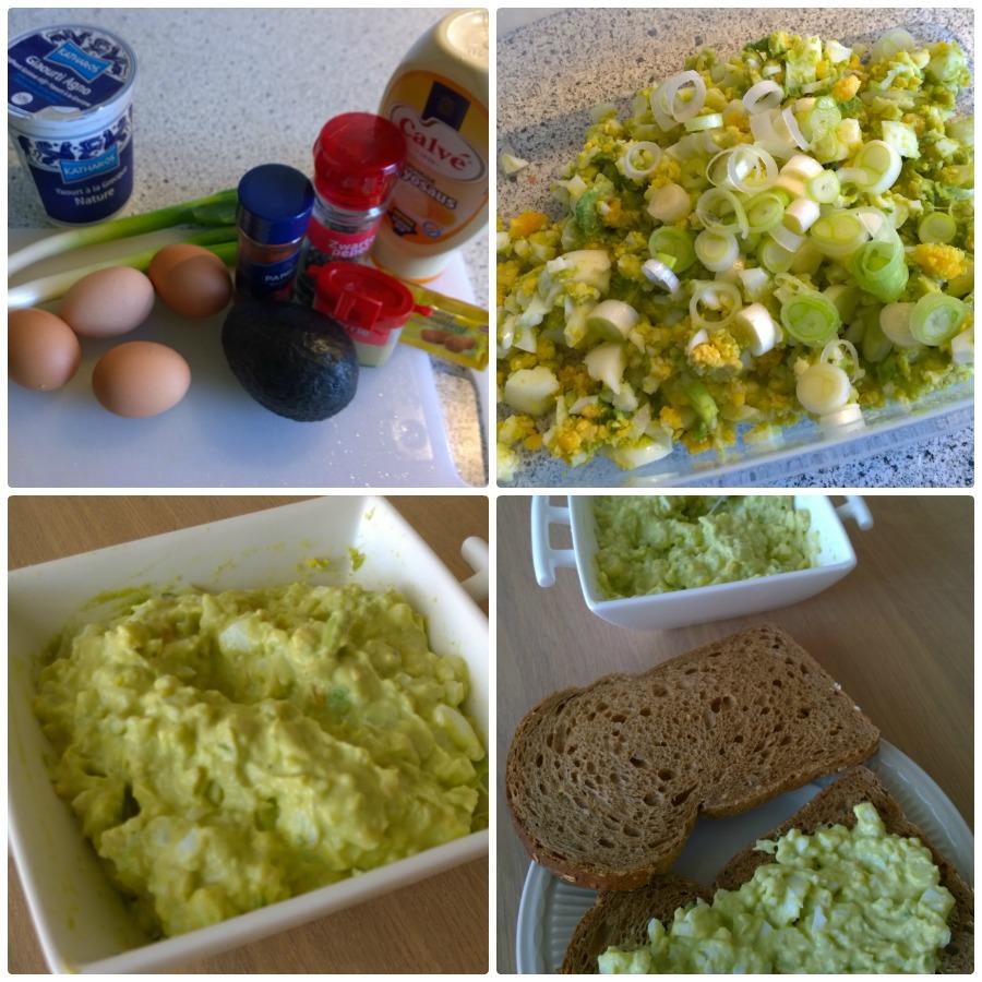 Eiersalade avocado home made challenge