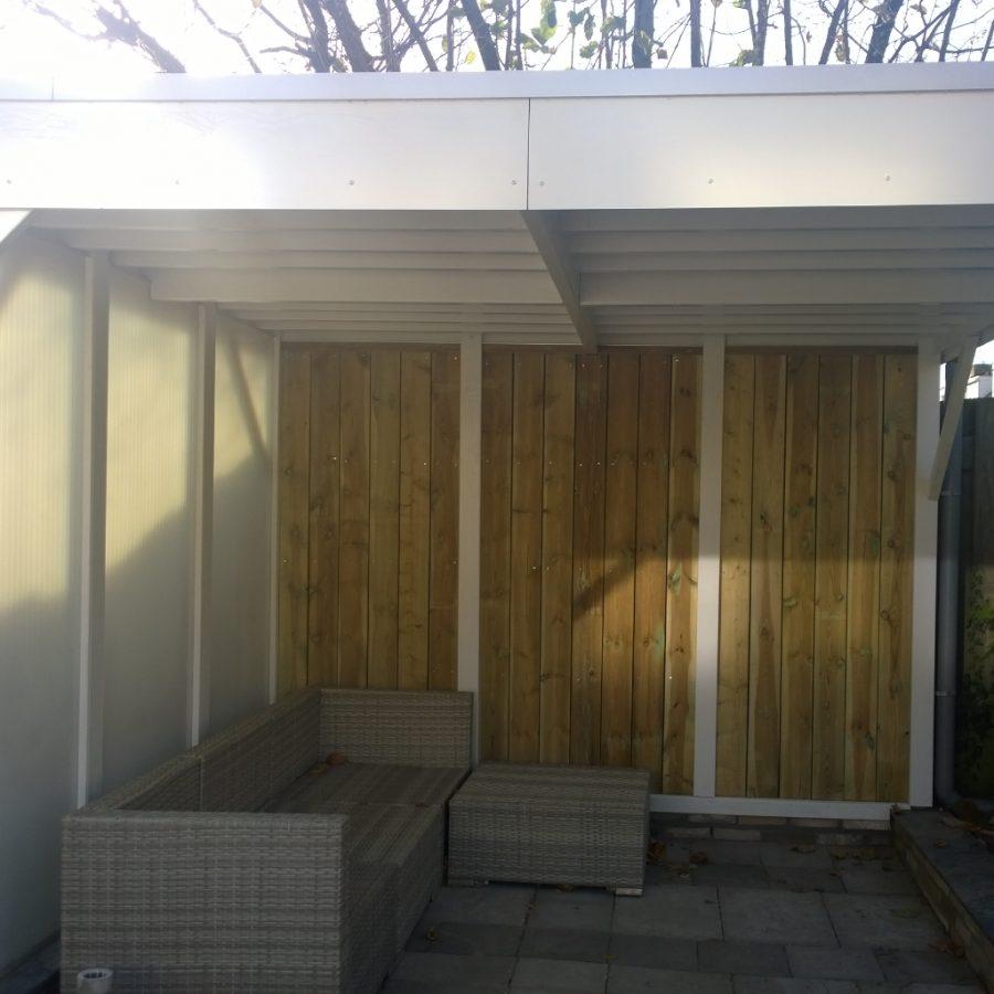 Eindresultaat veranda tuin mindjoy