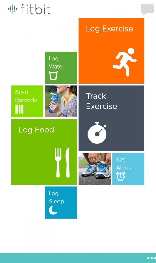 Fitbit flex printscreen home