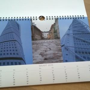Fotofabriek jaarkalender drieluik