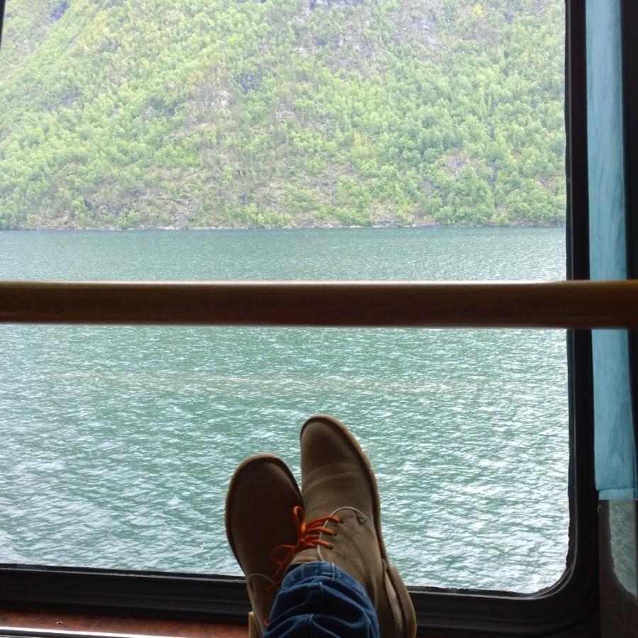 From where I sit Hurtigruten Fjorden Noorwegen