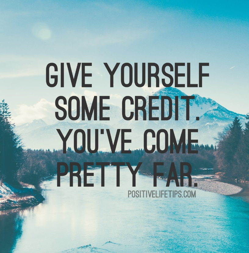 Give yourself credit quote
