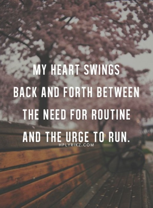 Heart swings back forth quote