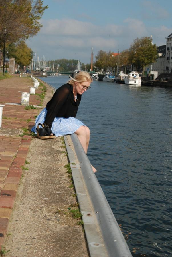Hoe mindful is Lesley genieten aan water