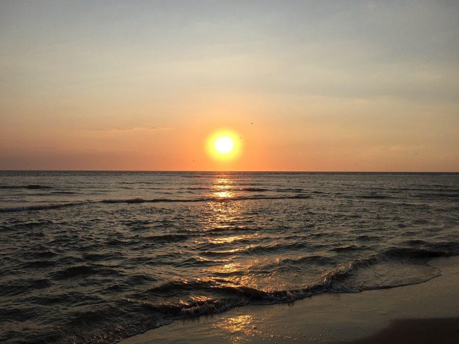 Hoe mindful is Sytse genieten zonsondergang