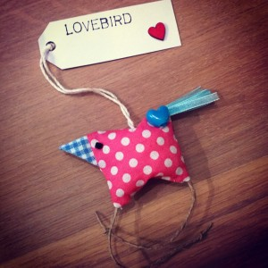 Home made lovebird creatieve Gertie