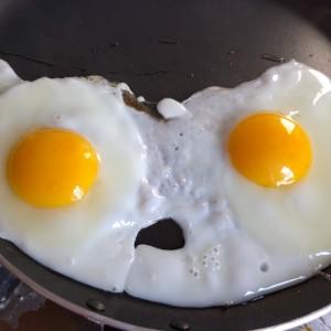 I see faces eggs