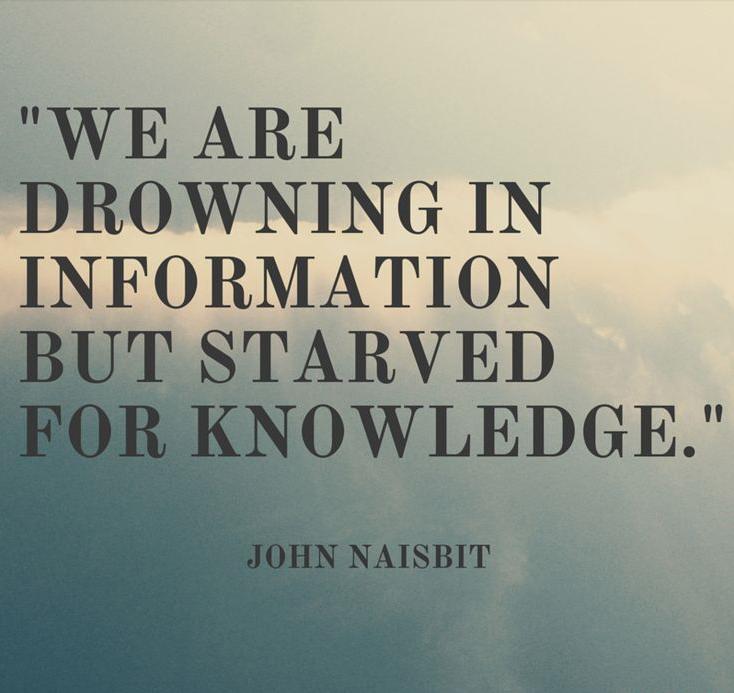 Infobesitas drowing in information