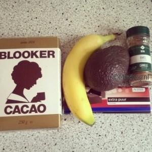Ingredienten gezonde chocolademousse