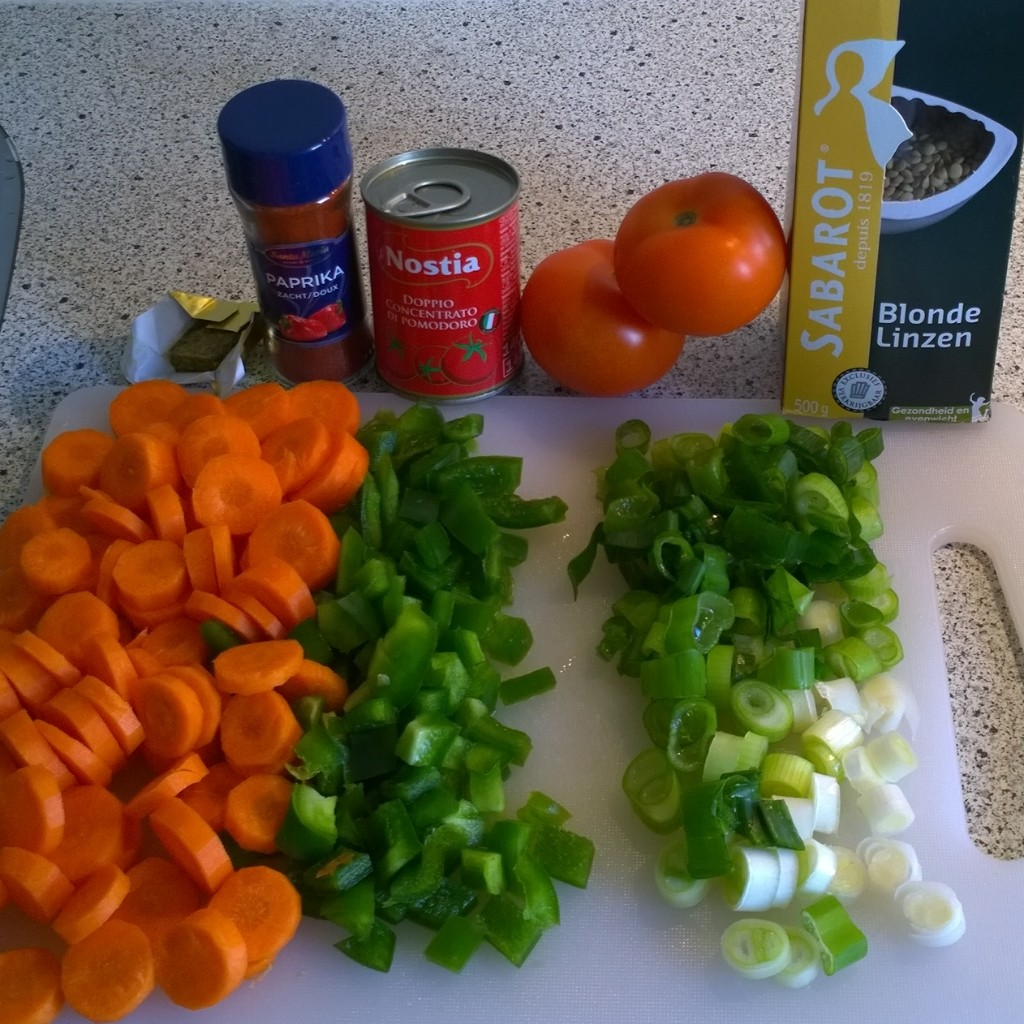 Ingredienten linzensoep foodgloss