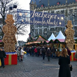Kerstmarkt Aachen ingang markt