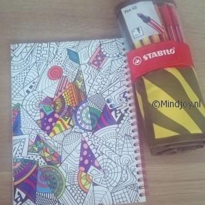Kleurboek voor volwassenen stabilo