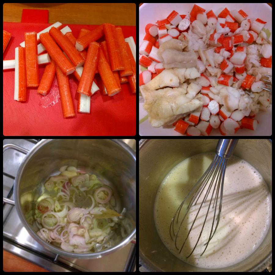 Kookclub saus vulling surimi lasagne