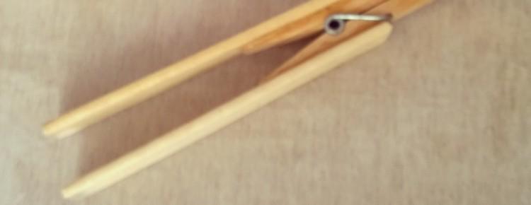 Leren van fysiotherapeut verlengde wasknijper