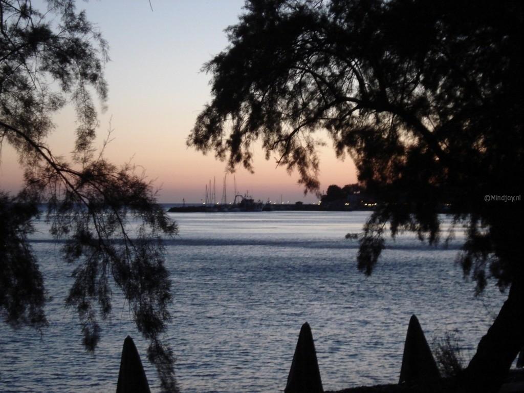 Lesbos Griekenland Molivos zonsondergang