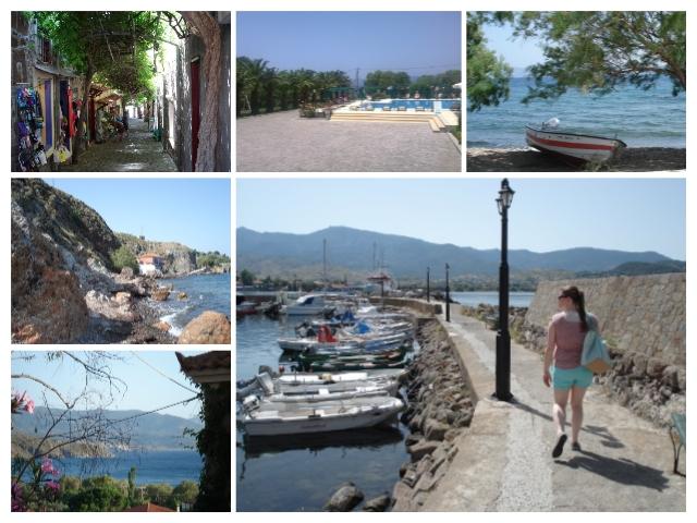 Lesbos griekenland molivos collage