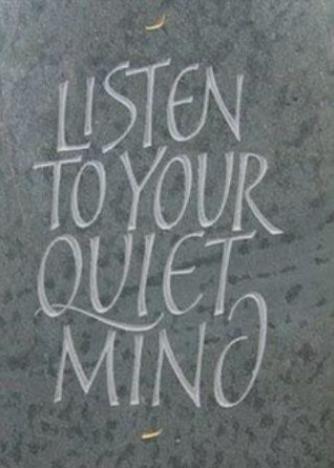 Listen quiet mind meditation quote