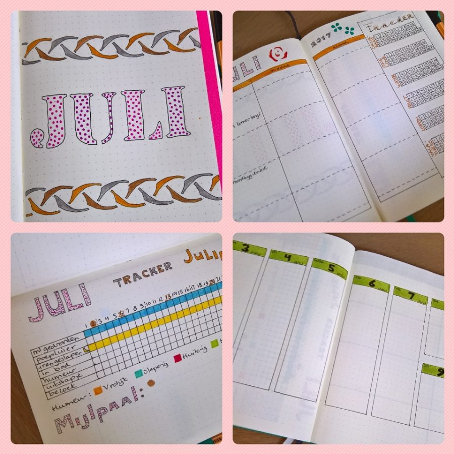 Maandoverzicht bullet journal mindjoy