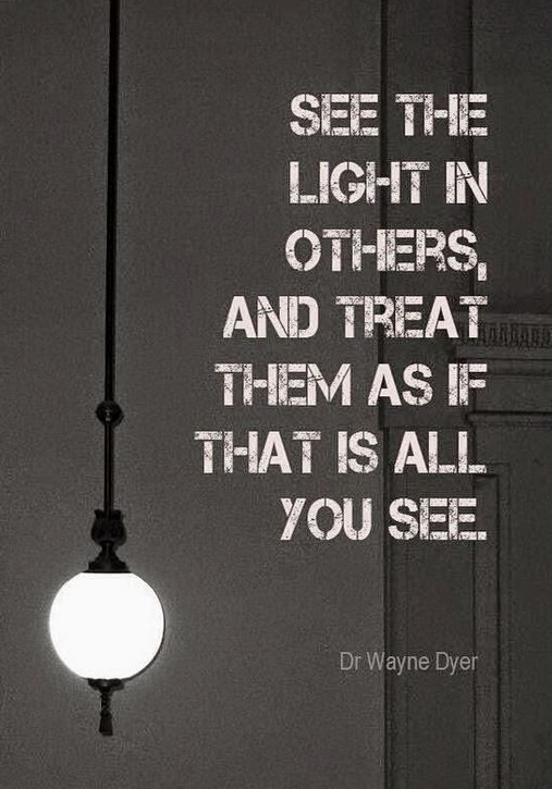 Mindfulness see the light others quote