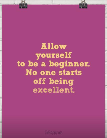 Mindfulness spreuk be a beginner