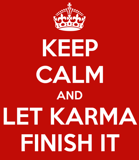 Mindfulness spreuk keep calm karma