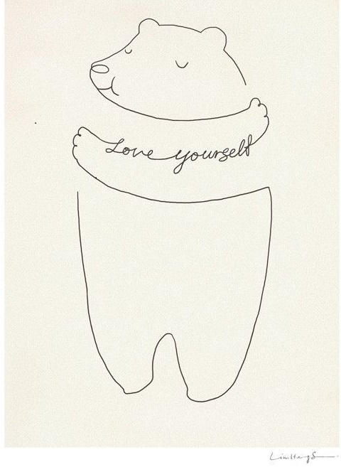 Mindfulness spreuk love yourself