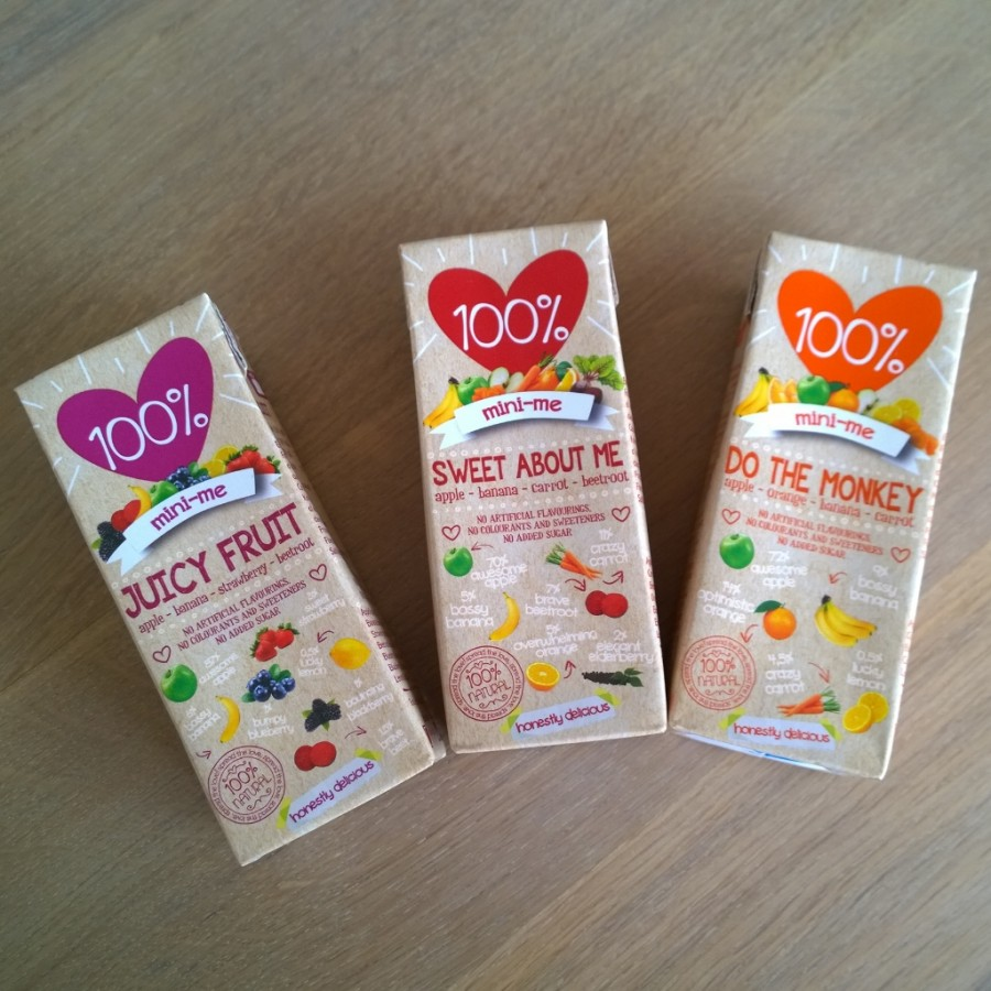 Nieuwe smaken 100p natural juice mini me