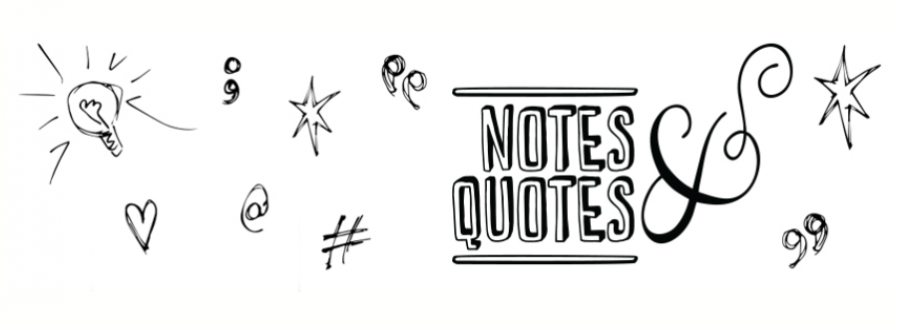Notes quotes header webshop