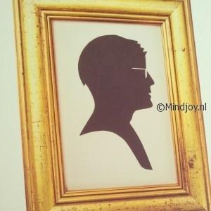 Papierknipkunst silhouet