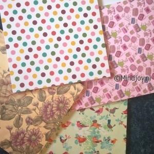 Patronen karton kleuren designs