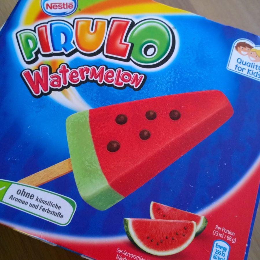 Pirulo watermeloen ijsjes heerlijk