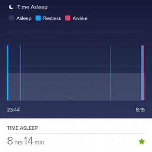 Plog augustus 2015 hoe geslapen fitbit flex