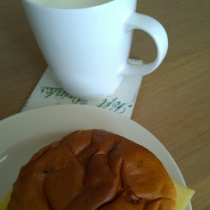 Plog augustus 2015 ontbijt melk krentenbol kaas