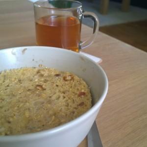 Plog ontbijt mugcake thee