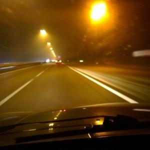 Plog rustig op snelweg