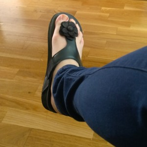 Podo slippers fits steunzolen bloem
